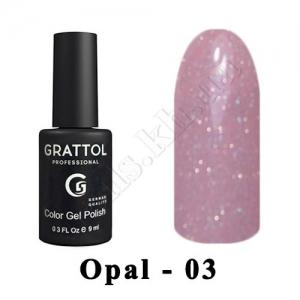 003 - Grattol Color Gel Polish OS  Opal, 9ml