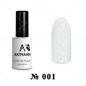 001 - Akinami Color Gel Polish - White, 9ml