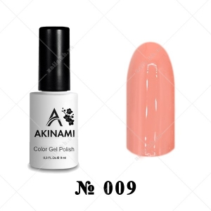 009 - Akinami Color Gel Polish - Peach Echo, 9ml