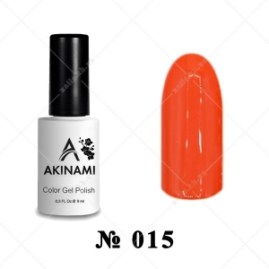 015 - Akinami Color Gel Polish - Orange Red, 9ml