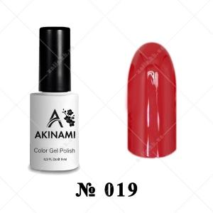 019 - Akinami Color Gel Polish - Dark Red, 9ml