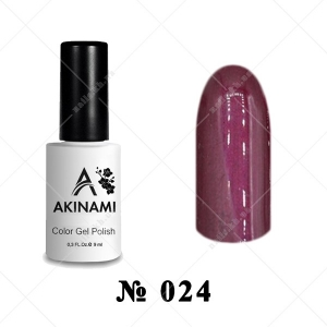 024 - Akinami Color Gel Polish - Marsala Pearl, 9ml