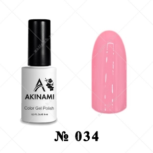 034 - Akinami Color Gel Polish - Powder Pink, 9ml