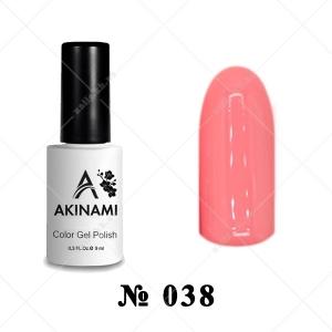 038 - Akinami Color Gel Polish - Coral Pink, 9ml