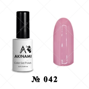 042 - Akinami Color Gel Polish - Ash Rose, 9ml