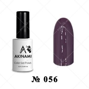 056 - Akinami Color Gel Polish - Plum, 9ml