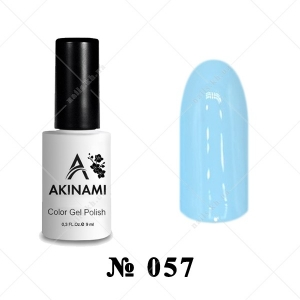057 - Akinami Color Gel Polish - Pale Blue, 9ml