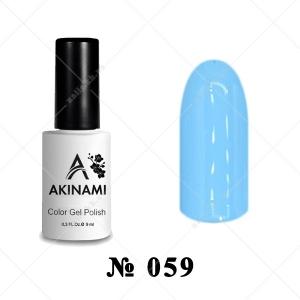 059 - Akinami Color Gel Polish - Light Blue, 9ml