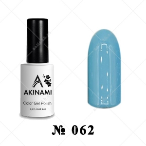 062 - Akinami Color Gel Polish - Blue Steel, 9ml