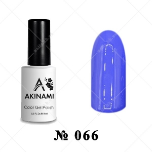 066 - Akinami Color Gel Polish - Dark Lilac, 9ml