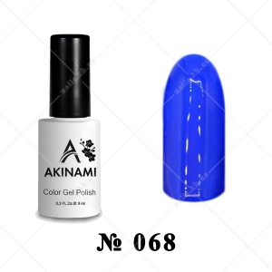 068 - Akinami Color Gel Polish - Ultramarine, 9ml