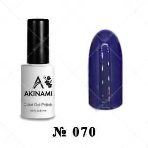 070 - Akinami Color Gel Polish - Dark Ultramarine, 9ml