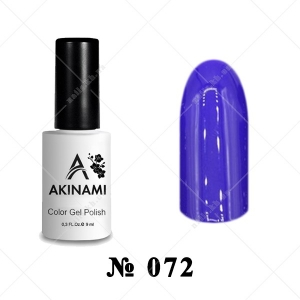 072 - Akinami Color Gel Polish - Indigo, 9ml