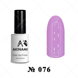 076 - Akinami Color Gel Polish - Pink Violet, 9ml
