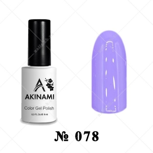 078 - Akinami Color Gel Polish - Mauve Mist, 9ml