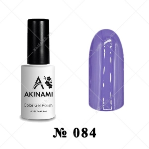 084 - Akinami Color Gel Polish - Gray Violet, 9ml