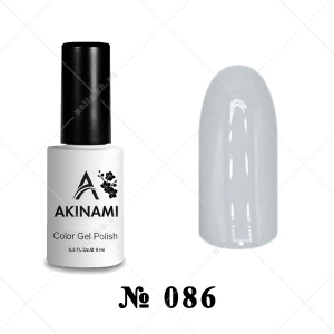 086 - Akinami Color Gel Polish - Gray Silk, 9ml