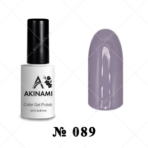 089 - Akinami Color Gel Polish - Platinum Gray, 9ml