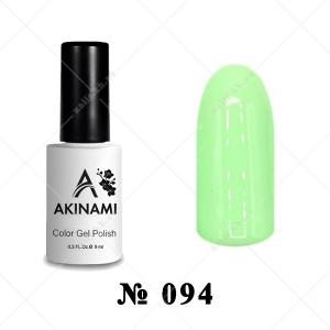 094 - Akinami Color Gel Polish - Pale Green, 9ml