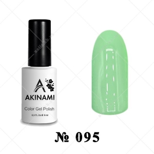 095 - Akinami Color Gel Polish - Green Flash, 9ml