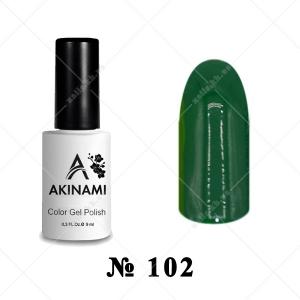 102 - Akinami Color Gel Polish - Dark Green, 9ml
