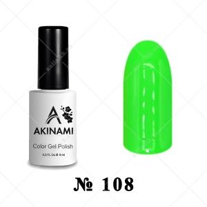 108 - Akinami Color Gel Polish - Electric Green, 9ml