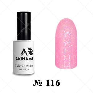 116 - Akinami Color Gel Polish - Pink Glass, 9ml