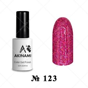 123 - Akinami Color Gel Polish - Pink Holography, 9ml