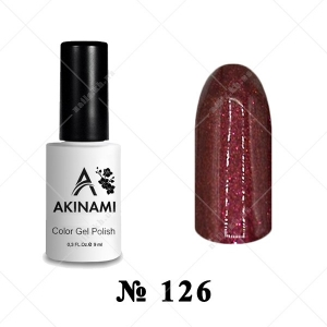126 - Akinami Color Gel Polish - Hickory, 9ml