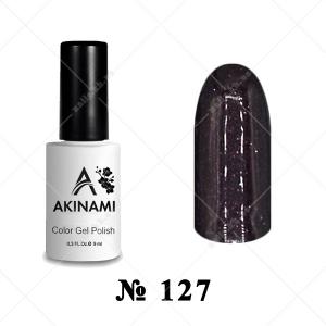 127 - Akinami Color Gel Polish - Black Brown, 9ml
