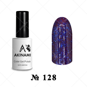 128 - Akinami Color Gel Polish - Purple Fairy, 9ml