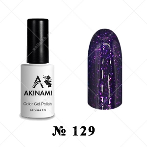 129 - Akinami Color Gel Polish - Magic Violet, 9ml
