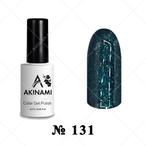 131 - Akinami Color Gel Polish - Cosmo Emerald, 9ml