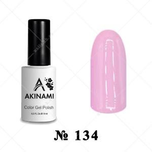 134 - Akinami Color Gel Polish - Pink Mist, 9ml
