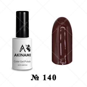 140 - Akinami Color Gel Polish - Dark Burgundy, 9ml
