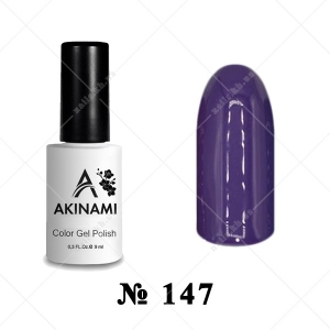 147 - Akinami Color Gel Polish - Plum Jam, 9ml