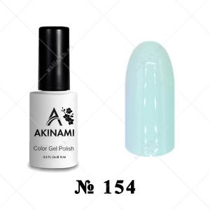 154 - Akinami Color Gel Polish - White Green, 9ml