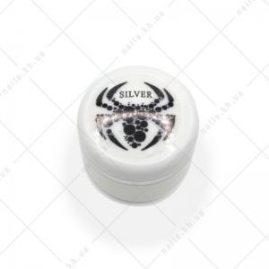 MAXIMUM Spider Gel - гель паутинка, Silver, 5мл