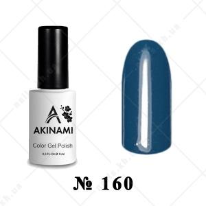 160 - Akinami Color Gel Polish - Green Blue, 9ml