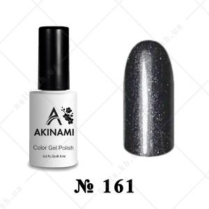 161 - Akinami Color Gel Polish - Black Metal, 9ml