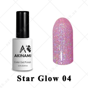 004 - Akinami Color Gel Polish  Star Glow, 9ml