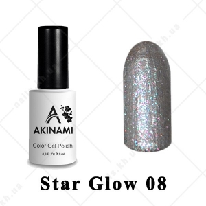 008 - Akinami Color Gel Polish  Star Glow, 9ml