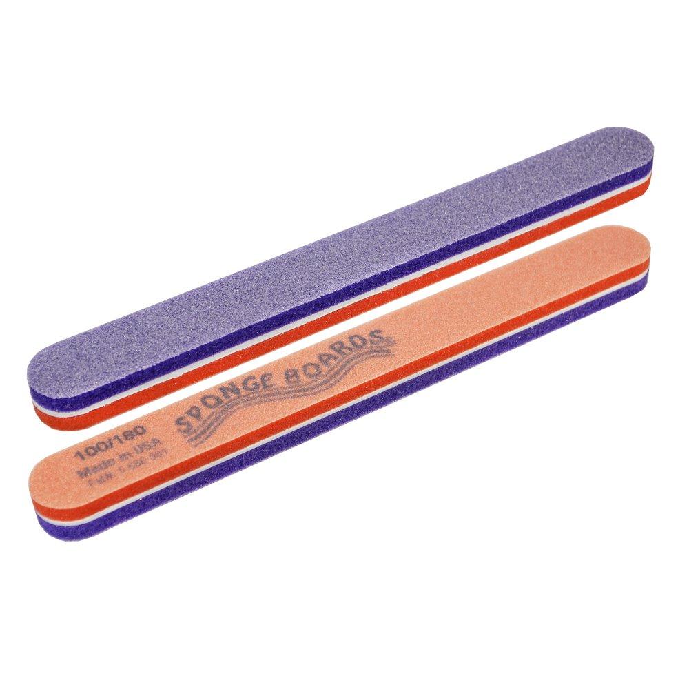 SPONGE BOARD Standard - шлифовщ. спонж. фиолет/оранж 100/180 шт