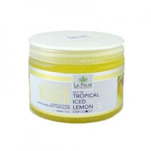 LA PALM Сахарно-масляный скраб / увлажн. и гладкость / Tropical Iced Lemon / Лимон со льдом 355 мл