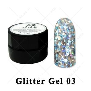 003 - Akinami  Glitter Gel, 5ml