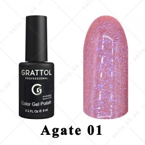 001 - Grattol Color Gel Polish LS  Agate, 9ml