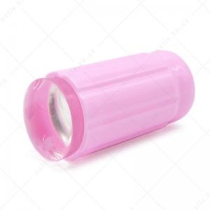 EL Corazon - штамп № 10 односторонний цилиндр прозрачный силикон (d=2,8см)