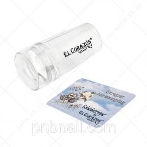 EL Corazon - штамп № 11 односторонний круглый прозр.силикон+колпачок