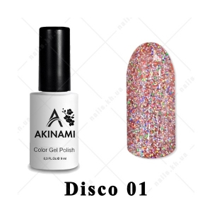 001 - Akinami Color Gel Polish  Disko, 9ml