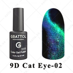 002 - Grattol Color Gel Polish  9D Cat Eye, 9ml